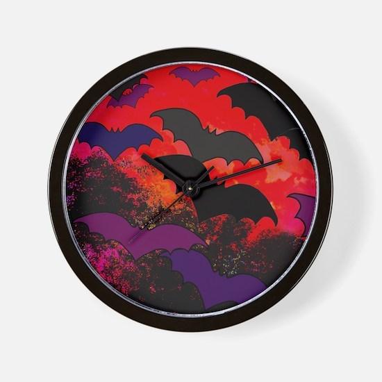 Bats In Flight Wall Clock