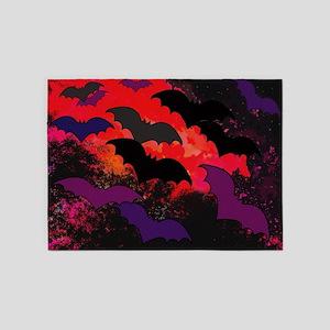 Bats In Flight 5'x7'Area Rug