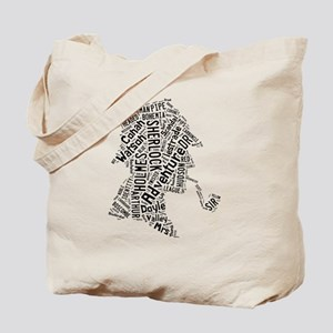 Sherlock Holmes Wordle Tote Bag