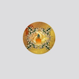 Buddha in the sunset Mini Button