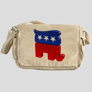 Republican Elephant with Trump Hair Messenger Bag