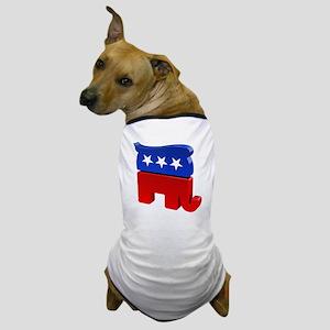 Republican Elephant with Trump Hair Dog T-Shirt