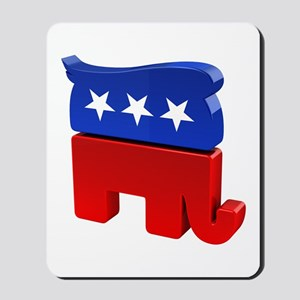 Republican Elephant with Trump Hair Mousepad