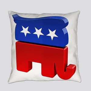Republican Elephant with Trump Hai Everyday Pillow