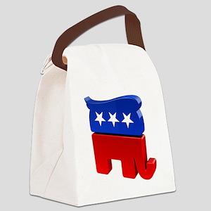 Republican Elephant with Trump Ha Canvas Lunch Bag