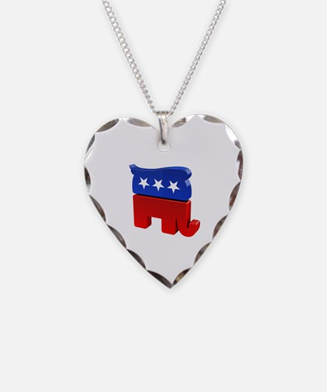 Republican Elephant with Trum Necklace