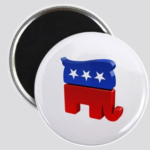 Republican Elephant with Trump Hair Magnet