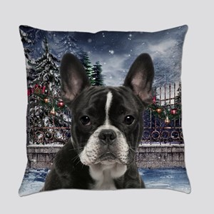 Festive Frenchie Everyday Pillow