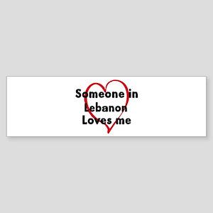 Loves me: Lebanon Bumper Sticker