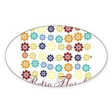 Cool Chic Floral Sticker (Oval)