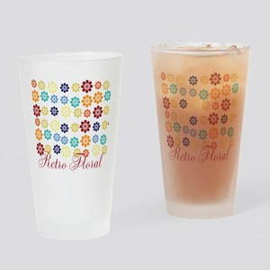 Cool Chic Floral Drinking Glass