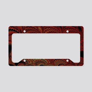Hot Red Fan License Plate Holder