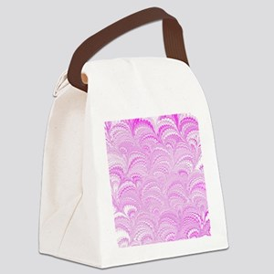 Pink Wave Canvas Lunch Bag