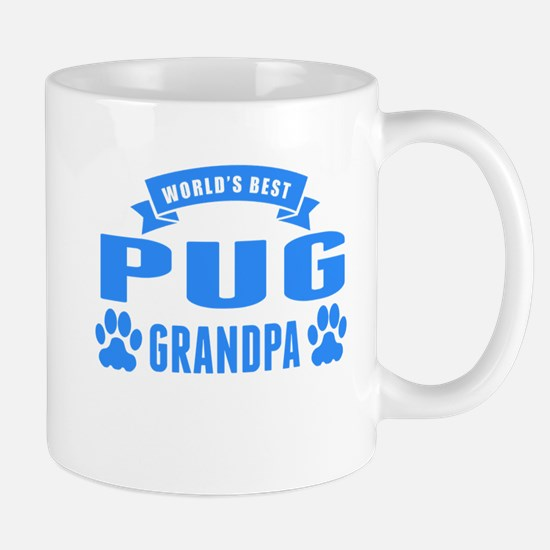 Worlds Best Pug Grandpa Mugs