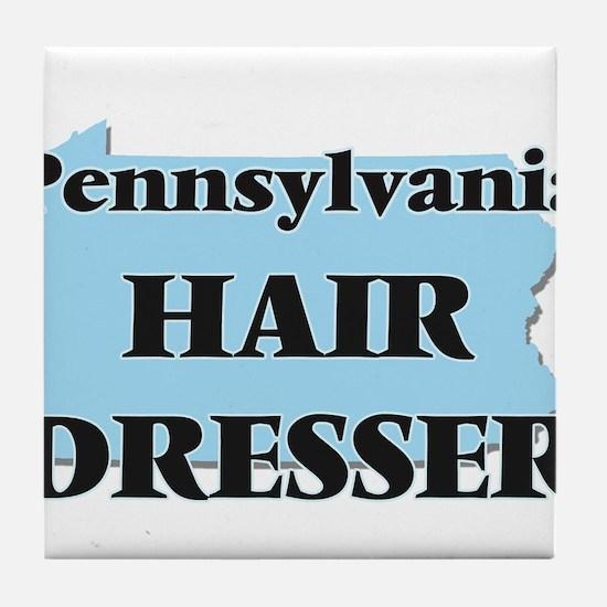 Pennsylvania Hair Dresser Tile Coaster