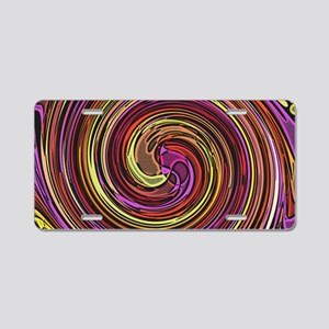 Rainbow Whirlpool Aluminum License Plate