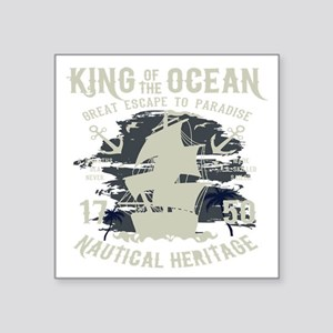 "King of The Ocean Square Sticker 3"" x 3"""