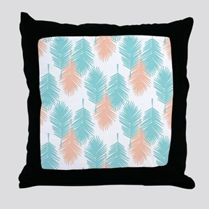 Tropical palm leaves pattern. Throw Pillow