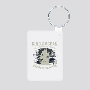 King of The Ocean Aluminum Photo Keychain
