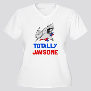 Totally Jawsome Women's Plus Size V-Neck T-Shirt
