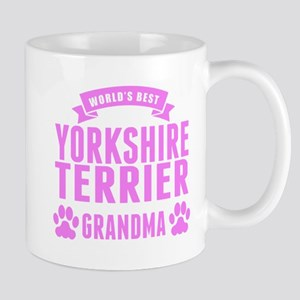 Worlds Best Yorkshire Terrier Grandma Mugs