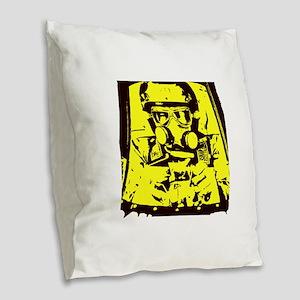 Nitro Pilot Burlap Throw Pillow