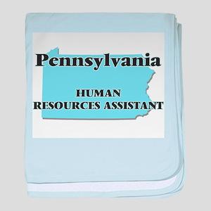 Pennsylvania Human Resources Assistan baby blanket
