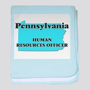 Pennsylvania Human Resources Officer baby blanket