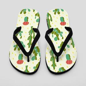 Cactus Pattern Flip Flops