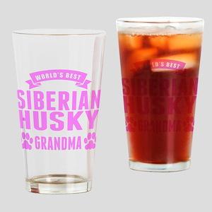 Worlds Best Siberian Husky Grandma Drinking Glass