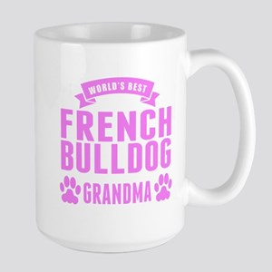 Worlds Best French Bulldog Grandma Mugs