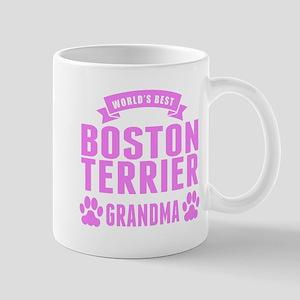 Worlds Best Boston Terrier Grandma Mugs