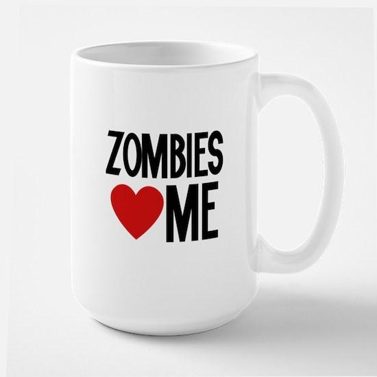 Zombies love me Large Mug
