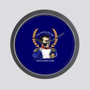 Napoleon Famous Quote Wall Clock