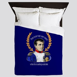 Napoleon Famous Quote Queen Duvet