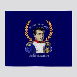 Napoleon Famous Quote Throw Blanket