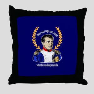 Napoleon Famous Quote Throw Pillow