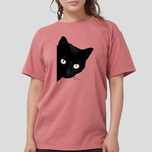 Black cat Womens Comfort Colors® Shirt