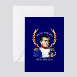 Napoleon bonaparte greeting cards cafepress napoleon famous quote greeting cards m4hsunfo Images