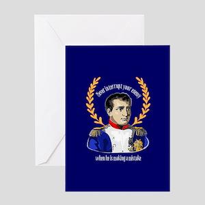 Napoleon bonaparte greeting cards cafepress napoleon famous quote greeting cards m4hsunfo