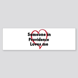 Loves me: Providence Bumper Sticker