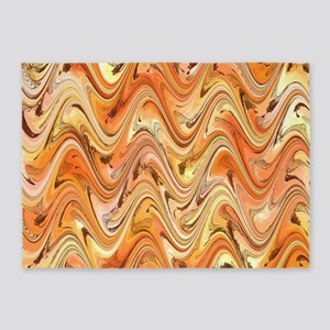 Wave in Orange 5'x7'Area Rug