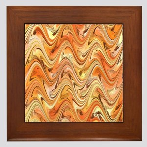 Wave in Orange Framed Tile