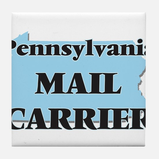 Pennsylvania Mail Carrier Tile Coaster