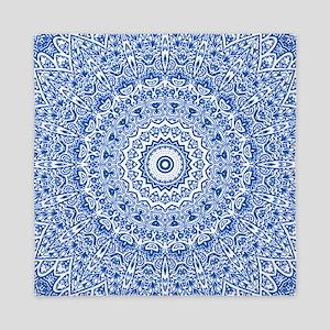 Blue & White Mandala Pattern Queen Duvet