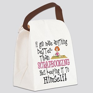 Anything Better Than Scrapbooking Canvas Lunch Bag