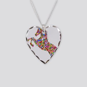 Prismatic Rainbow Unicorn Necklace Heart Charm