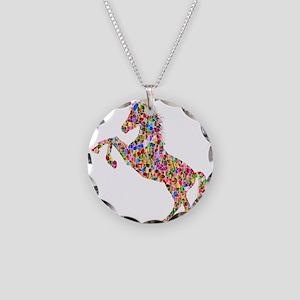 Prismatic Rainbow Unicorn Necklace Circle Charm