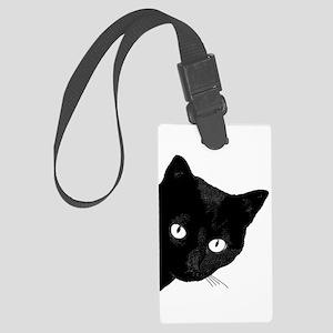 Black Cat Large Luggage Tag