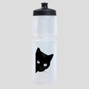 Black cat Sports Bottle